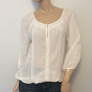 White J. Crew XS extra Small Top blouse shirt